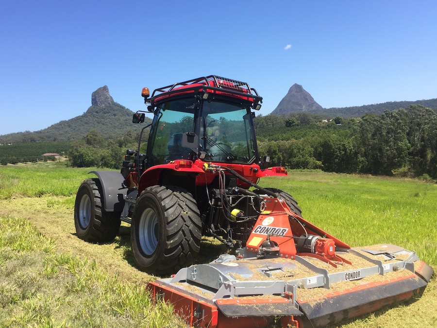 BM Better 130 Tractor with Howard Condor Mower - Great for contractors or roadside slashing