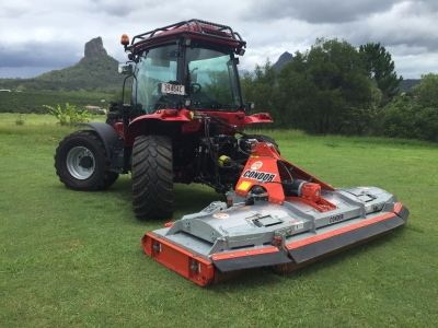 BM Better 130 Tractor with Condor Mower - Great for contractors or roadside slashing