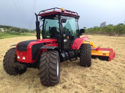 BM 4 Wheel Steer Hillside Tractor with INO Mulcher