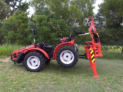 Tecnoagri Backhoe attachment on AGT 850