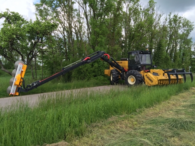 Plaisance with pruning head available from Hillside Tractors Australia