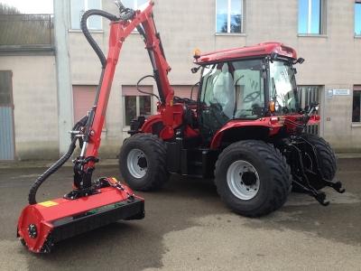 BM 130 Tractor with Hymach Reach Arm Mulcher